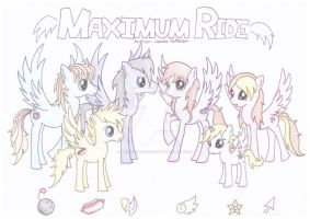 Book Based Ponies - Maximum Ride by mesaluvscookies