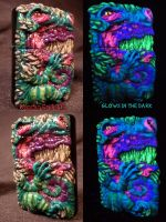 Dragon Zippo By Undead Ed Glows in The Dark 2 by Undead-Art