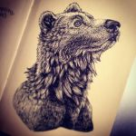 Inked Bear by moxxee