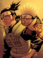Naruto and Iruka by matlopes