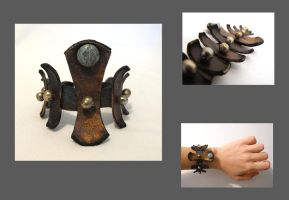 Tribal leather bracelet by julishland