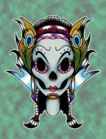 sugar skull variation by yayzus