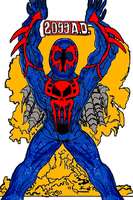 M is for Miguel, the Spider-Man in 2099 by scholarwarrior-lad