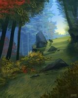 Forest Speedpaint by daPatches