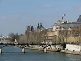 The pont des arts in Paris by Momotte2