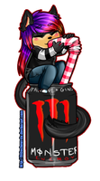 Chibi on a can AllyCookieKitty by LittleChewrrie