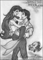 Ariel and Eric OLD Drawing by Katerina-Art