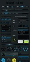Black and Blue FT UI Kit by Grafpedia