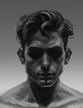 Face practice in black and white by victter-le-fou