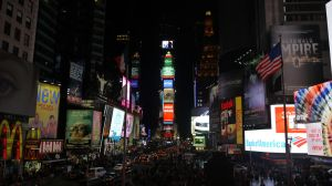 Time Square at Night by shelbs2