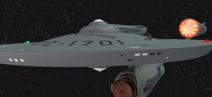 USS Enterprise and Space-tug Scale by gmd3d