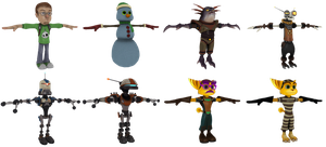 Ratchet and Clank: ToD - Skin Pack by o0DemonBoy0o