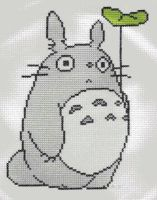 Totoro with Leaf by StitchPlease