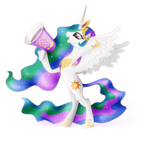 Princess Celestia (Alpha Channel) by nicolaykoriagin