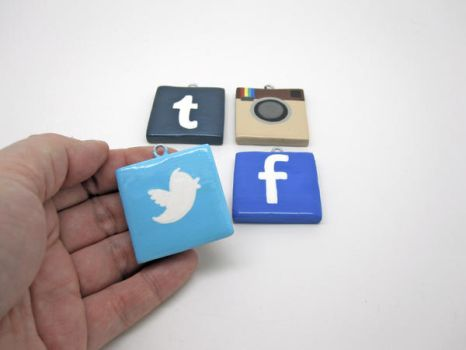 Social Networking Ornament Set by egyptianruin