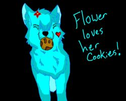 Flower loves her cookies c: by Lurker89