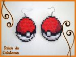 Pokeball earrings by anubis-pumpkinqueen