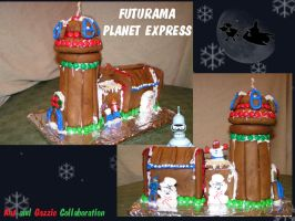 Gingerbread Planet Express by Gazelle1583