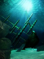 mermaidbackground1 by priesteres-stock
