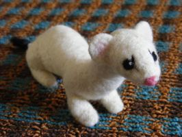 SOLD Needle Felted Winter Ermine by CVDart1990