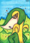 Snivy: 495 by CrustyCrumble