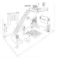 2 point perspective Room by NoeUchihA