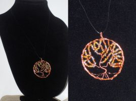 Copper Tree of Life Necklace by Tesa-studio
