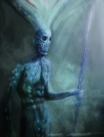 Old alien warrior by BramLeegwater