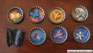 Bottle Caps by berlynnwohl