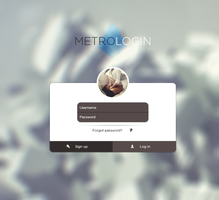Metro UI Login by lpzdesign