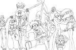 One piece crew lineart by azuregundam
