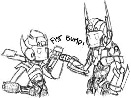 FIST BUMP by ZombiesAsAMetaphor