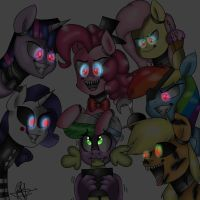 Five Nights at Pinkie's Colored by ArtistCoolPony