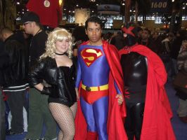 Superman, Black Canary, and X by pikaman206