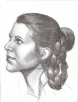 Leia head sketch by LauraQuiles
