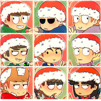 Eddsworld Christmas Profile Icons by Lovely-White-Void
