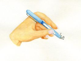 Hands - Studying by Coccis