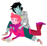 Adventure Time - Marshall Lee x Prince Gumball by ehri