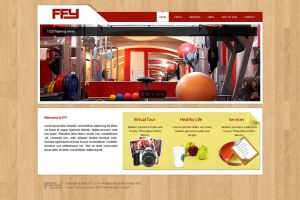 Fitness centrum website by luqa