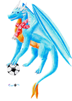 Footballdragon-present for a friend 1 by Okiro13