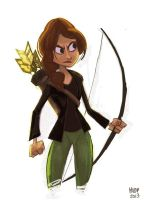 Katniss Everdeen by sketchinthoughts