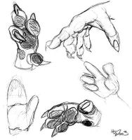 Cartoony Hands - Life Drawings by halfbreed