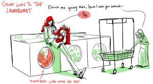 Geoff Goes to the Laundromat by FablePaint