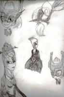Midna Sketches by YoungAngelStocking