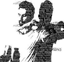 Adam Levine Typography. by Brooke10178