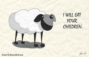 Evil Sheep by Drone-5