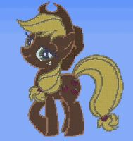 Applejack in Terraria by bias1924