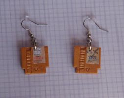 NES Zelda 1 and 2 Earrings by Sango12592