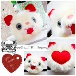 Love Bug Yeti - Valentines day Gift Plushie by TomodachiIsland