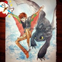 Dangit, Hiccup by heyyouhai